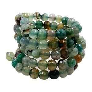 Green Agate Coil Bracelet Savvy Cie